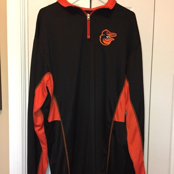f4924cc02fd MLB Baltimore Orioles 1 4 Zip Baseball Shirt XL T